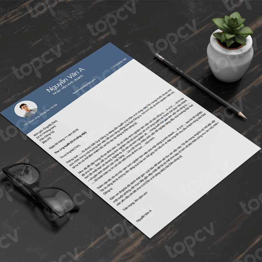 Mẫu Cover Letter tiếng Việt - Thanh Lịch